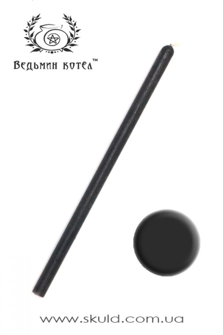 Свеча черная восковая