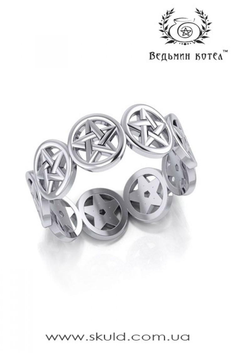 """Серебряное кольцо """"Магическая защита"""""""