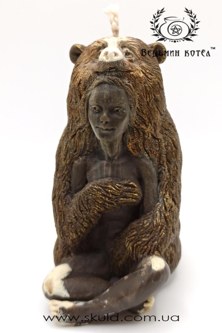 """Свеча-тотем """"Медведь"""""""