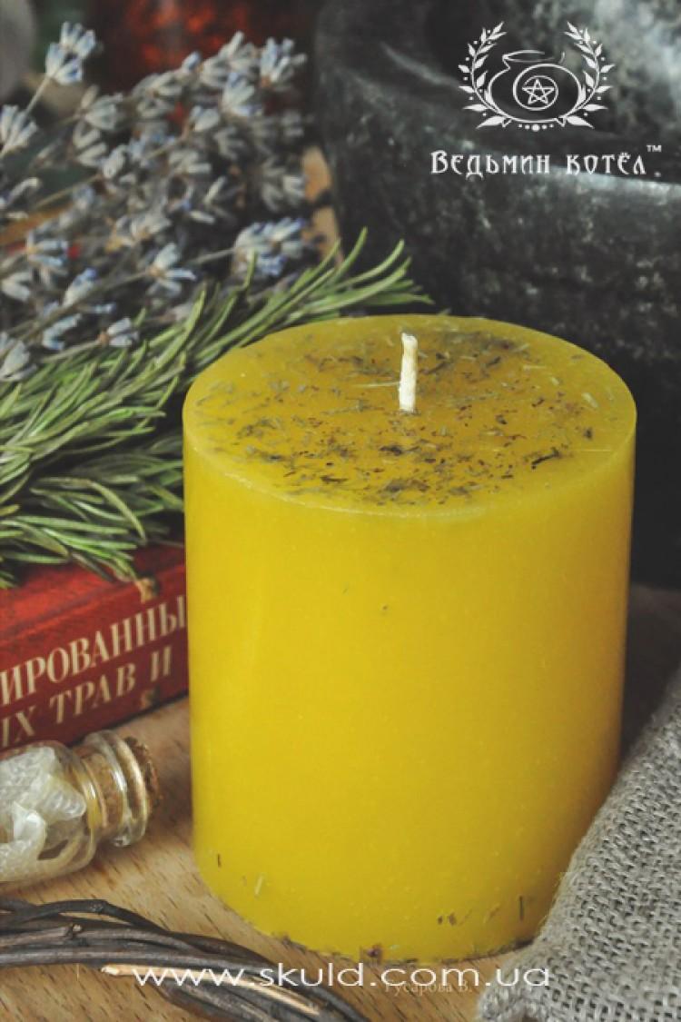 """Желтая свеча """"Ясность"""""""