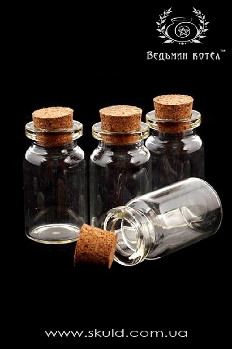 Стеклянная бутылочка с пробковой крышкой